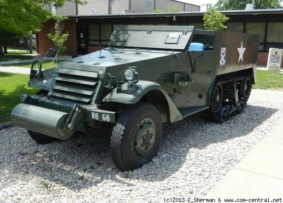 Click to view full size image  ==============  M3 Half Track at Fort Riley, Kansas, USA  M3 Half Track