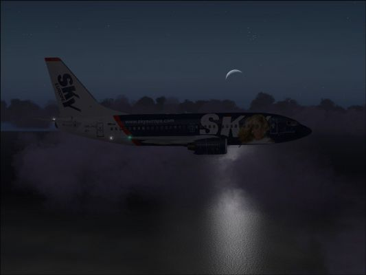 Click to view full size image  ==============  Night reflections FS9 screenshot taken during CC tour flight #22