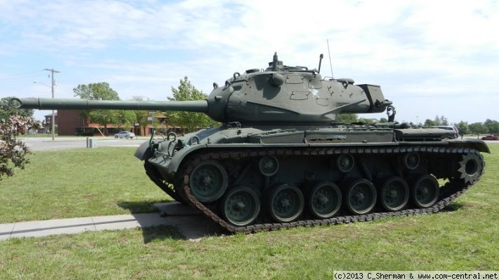 Click to view full size image  ==============  M47 Tank at Fort Riley, Kansas, USA  M47 Tank