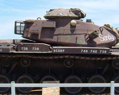 Click to view full size image  ==============  M60A1 - Bouse, AZ  S/N 10463