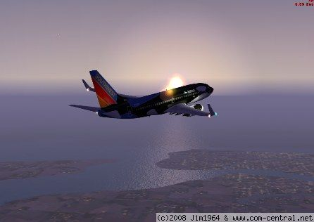 Southwest airlines  Airliner at sunrise